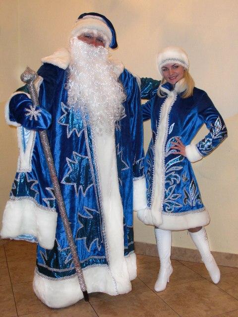 Новогодние костюмы деда мороза и снегурочки своими